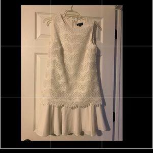 Tahari white dress